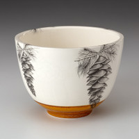 Small Bowl: White Pine Cone