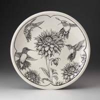 Large Round Platter: Hummingbird