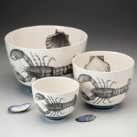 Medium Bowl: Hummingbird