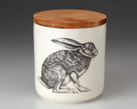Small Canister with Lid: Crouching Hare