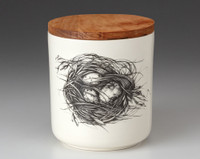 Small Canister with Lid: Quail Nest