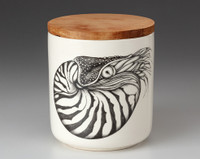 Small Canister with Lid: Nautilus