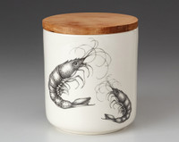 Small Canister with Lid: Shrimp