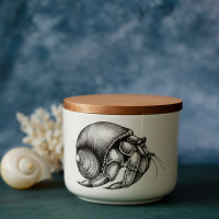 Mini Canister with Lid: Hermit Crab