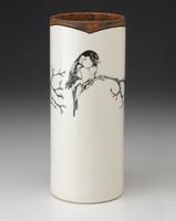Large Vase: Chickadee