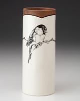 Small Vase: Chickadee