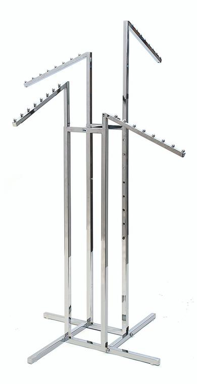 Four Arm Clothing Rack - Slant Arms