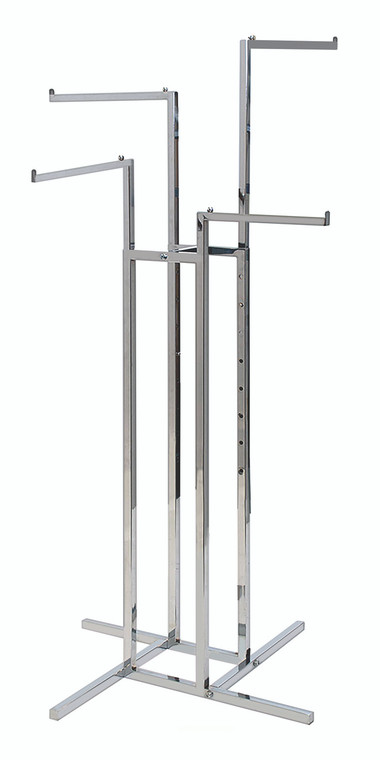 Four Arm Clothing Rack - Straight Arms