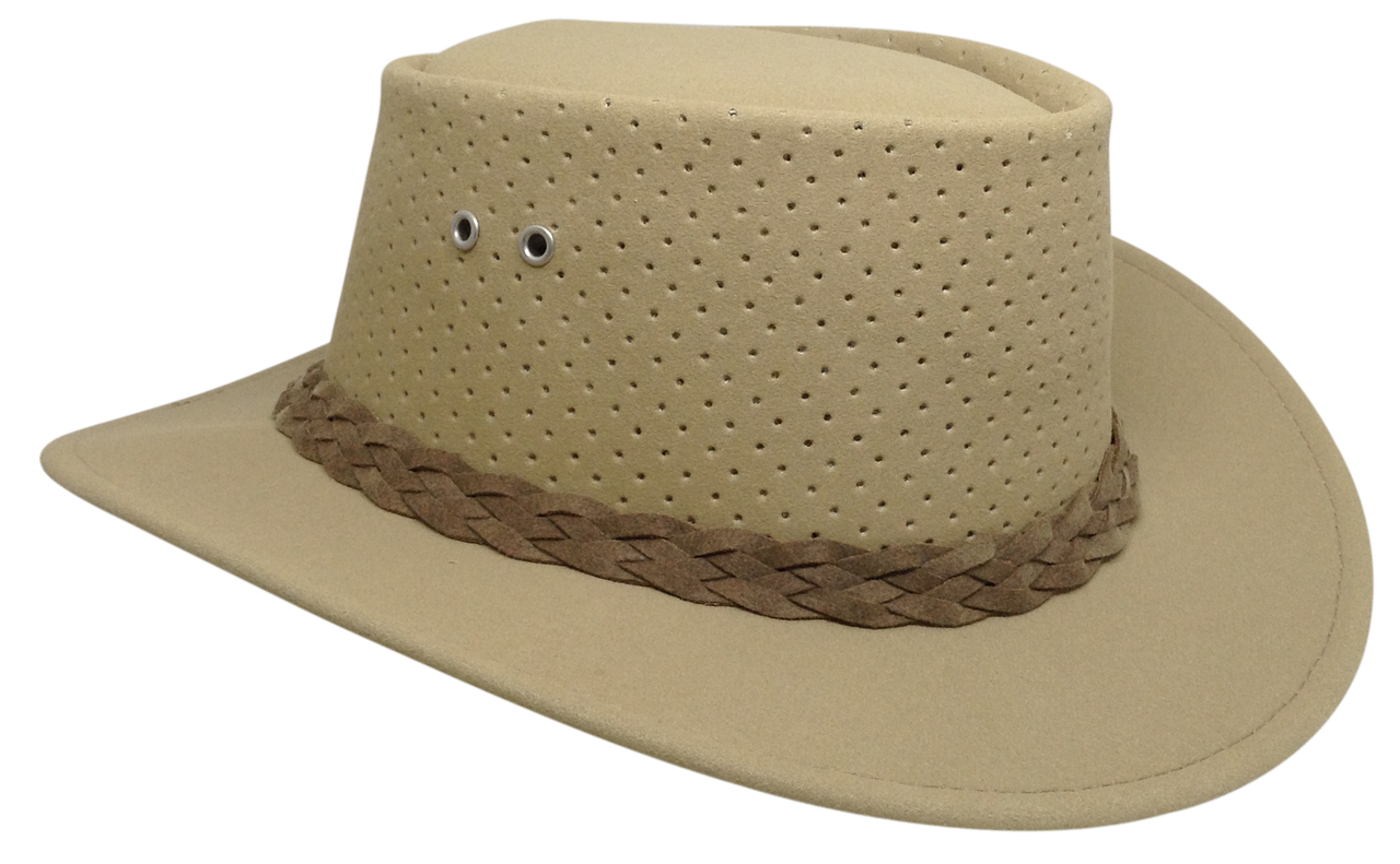 b26e71d0e3c Blonde Outback Bushie Perforated Shade Hat by Aussie Chiller