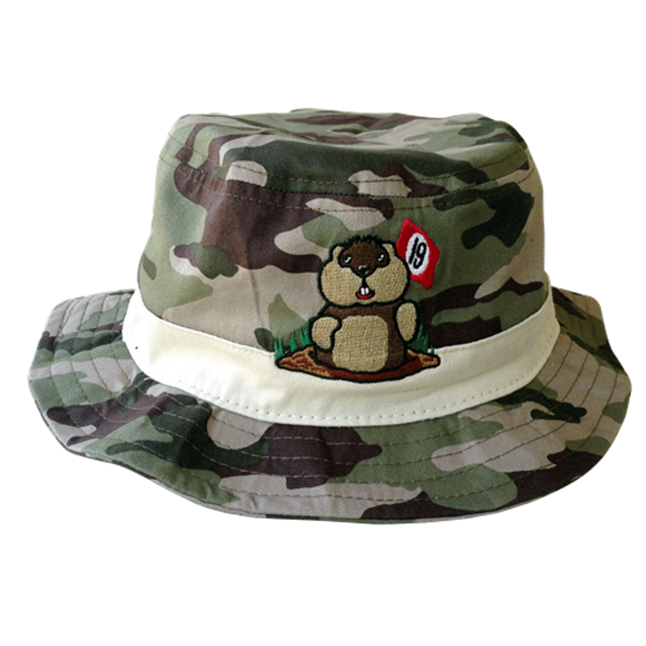 Caddyshack Camo Bucket Hat with Dancing Gopher Logo 74a613c6afb