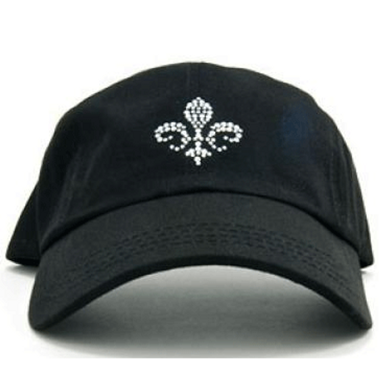 d9a05fb9f8e Ladies Baseball Hat - Fleur de Lis on Black by Dolly Mama