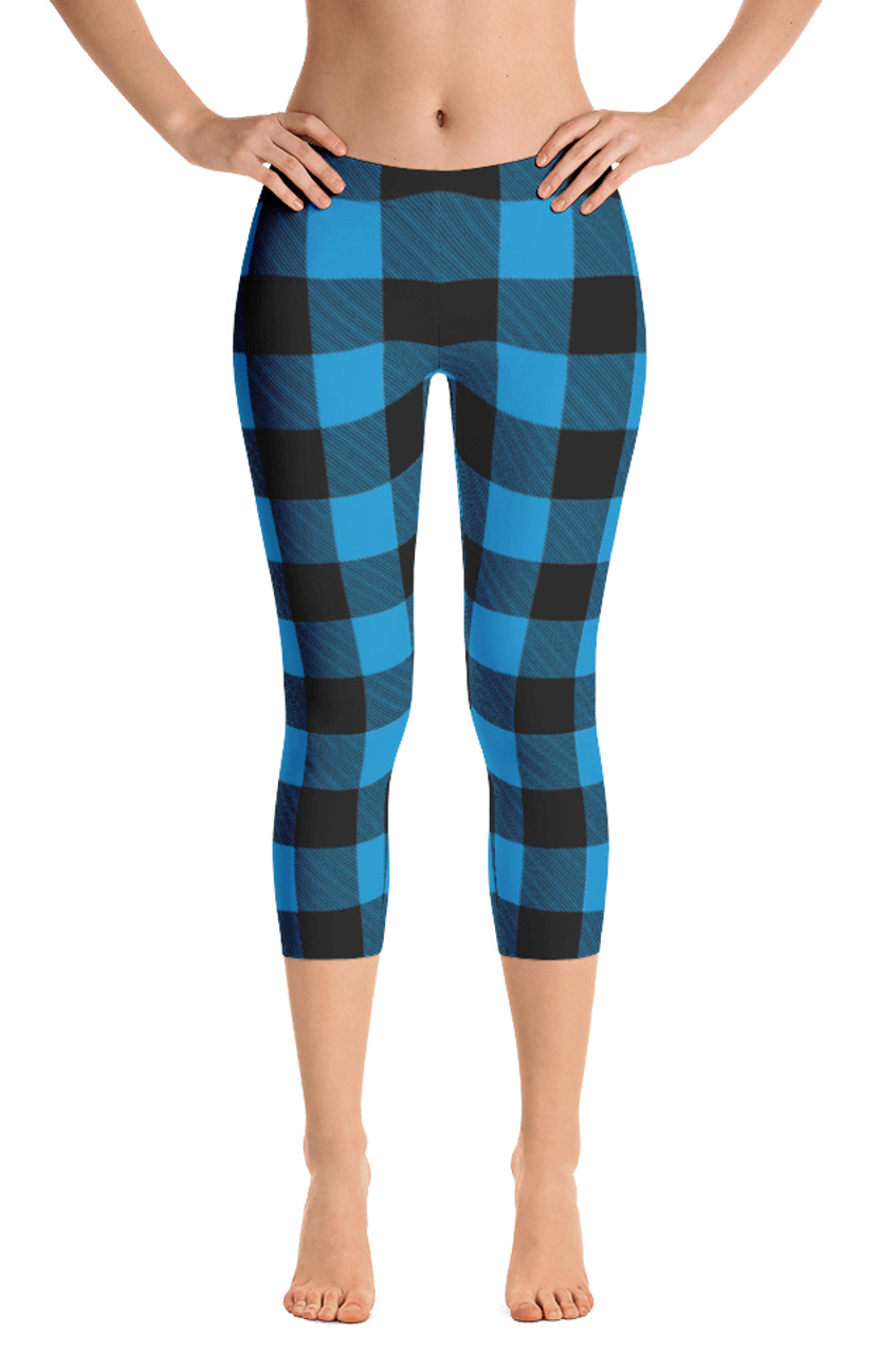 c18aa1250 Lumberjack Blue Womens Capri Leggings by ReadyGOLF