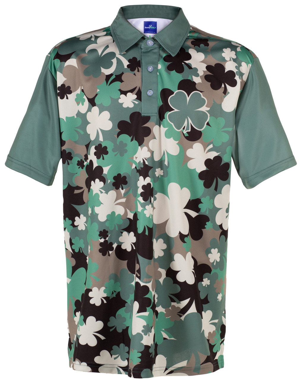 26cdf4de Irish Camo Polo Mens Golf Polo Shirt by ReadyGOLF