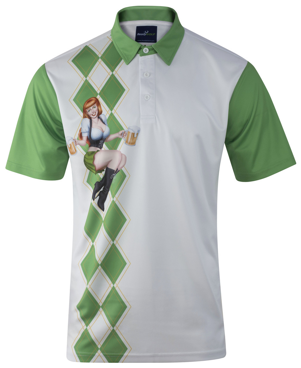 3c6652b3c Beer Girl Men's Golf Polo Shirt by ReadyGOLF