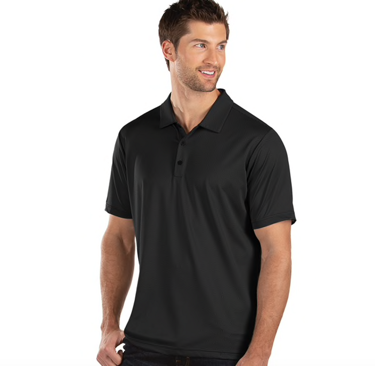 Details about  /Guide Gear Men/'s Black Short Sleeve Polo