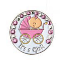 Bonjoc: Ball Marker & Hat Clip - IT'S A GIRL