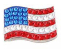 Bonjoc: Ball Marker & Hat Clip -  United States Flag