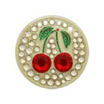 Bonjoc: Ball Marker & Hat Clip - Cherries