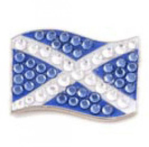 Bonjoc: Ball Marker & Hat Clip - Scotland Flag