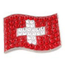 Bonjoc: Ball Marker & Hat Clip - Switzerland Flag