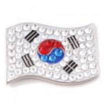 Bonjoc: Ball Marker & Hat Clip - Korea Flag