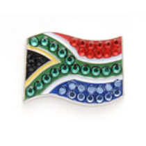Bonjoc: Ball Marker & Hat Clip - South Africa Flag