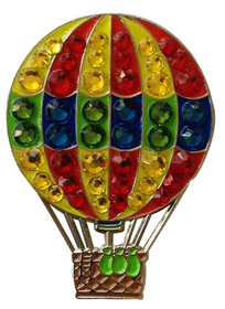 Bonjoc: Ball Marker & Hat Clip - HOT AIR BALLOON
