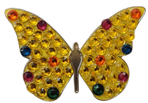 Bonjoc: Ball Marker & Hat Clip - Yellow Butterfly