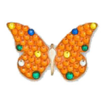 Bonjoc: Ball Marker & Hat Clip - Orange Butterfly