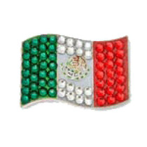 Bonjoc: Ball Marker & Hat Clip - Mexico Flag