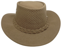 Aussie Chiller Outback Bushie Perforated Hat - Carmel
