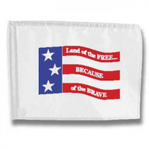 Markers Inc: Decorative Single Sided Golf Flags -Free & Brave