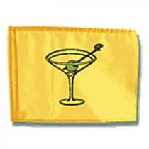 Markers Inc - Backyard Golf Flag: Cocktail Golf Flag
