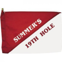 Markers Inc - Custom Pin Flags: Custom 19th Hole Golf Flags *Estimated Shipping Date January 6*