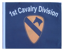 SSP Flags: 11x15 inch Golf Cart Replacement Flag - 1st Cavalry Division
