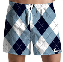 Loudmouth Golf: Men's Swim Trunks - Blue & White*