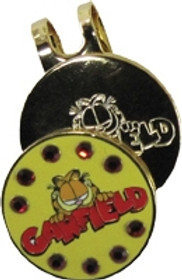 Winning Edge Designs - Crystal Magnetic Hat Clip and Ball Marker - Garfield the Cat