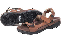 Sandbaggers: Women's Golf Sandals - Tango Teak