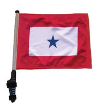 SSP Flags: 11x15 inch Golf Cart Flag with Pole - Blue Star