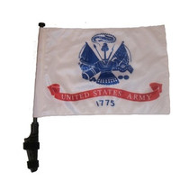 SSP Flags: 11x15 inch Golf Cart Flag with Pole - Army