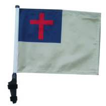 SSP Flags: 11x15 inch Golf Cart Flag with Pole - Christian