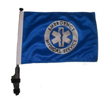 SSP Flags: 11x15 inch Golf Cart Flag with Pole - EMS