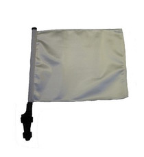 SSP Flags: 11x15 inch Golf Cart Flag with Pole - White