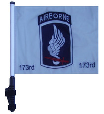 SSP Flags: 11x15 inch Golf Cart Flag with Pole - 173rd Airborne