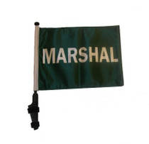 SSP Flags: 11x15 inch Golf Cart Flag with Pole -Marshal
