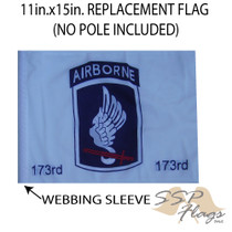 SSP Flags: 11x15 inch Golf Cart Replacement Flag - 173rd Airborne