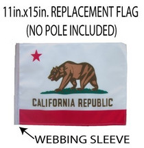 SSP Flags: 11x15 inch Golf Cart Replacement Flag - California