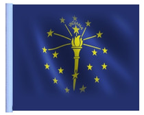 SSP Flags: 11x15 inch Golf Cart Replacement Flag - Indiana