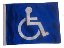 SSP Flags: 11x15 inch Golf Cart Replacement Flag - Handicap