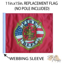 SSP Flags: 11x15 inch Golf Cart Replacement Flag - Fire Dept
